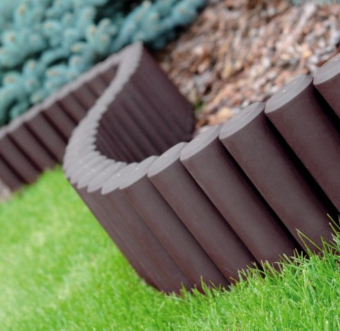 GARDEN FENCE LAWN EDGING BOARDER EDGE HAMMERED PALISADE FENCING