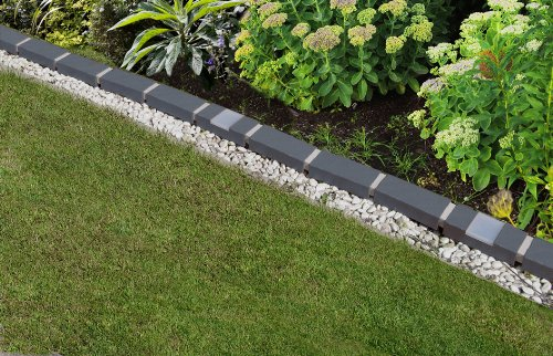 Charming Garden Design With Lumina Lawn Edging Border With Solar Lights. Set Of In  With Backyard