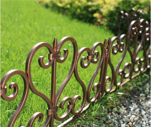 Captivating SET OF 5 HARD PLASTIC PVC GARDEN LAWN DECORATIVE EDGING ...
