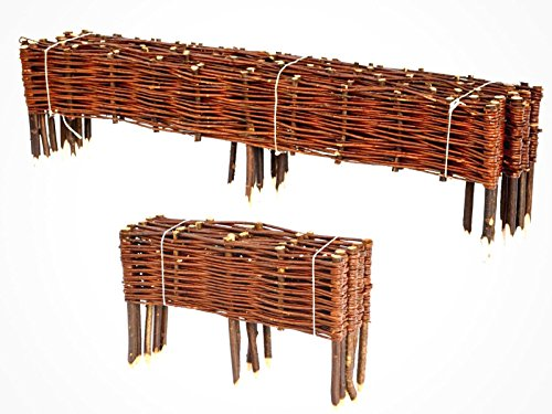 Boogardi Willow Bed Edging, Many Sizes, Fence, Pasture Fence And Lawn Edging  Fence For Flower Bed Border Or Path Edging